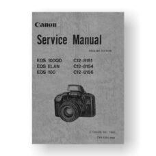 Canon CY8-1200-086 Service Manual Parts Catalog | Canon EOS Elan | EOS 100QD | EOS 100
