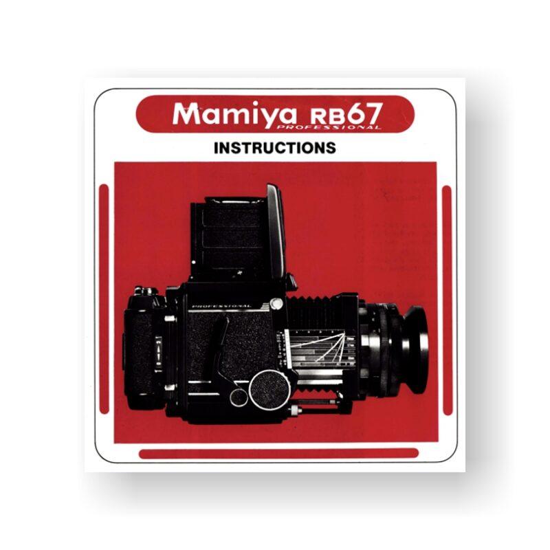 Mamiya RB67 Instruction Manual