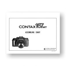 Contax 167MT Parts List Exploded View