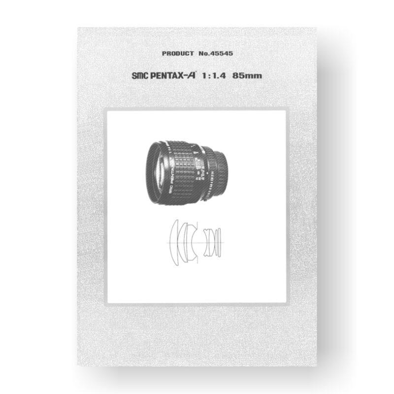 Pentax 45545 Parts List   SMC-A 85 1.4 Lens
