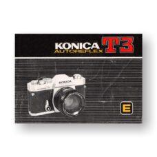 Konica AutoReflex T3 Owners Manual