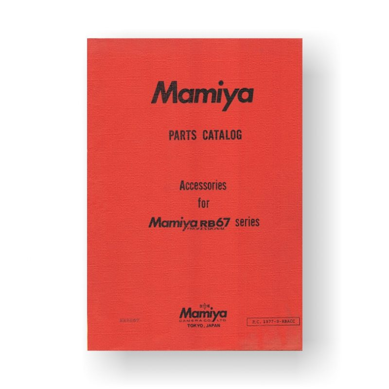 Mamiya RB67-Accessories Parts Catalog | Download