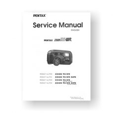 112-page PDF 8.40 MB download for the Pentax 27020 Service Manual Parts List | IQ-Zoom 90WR