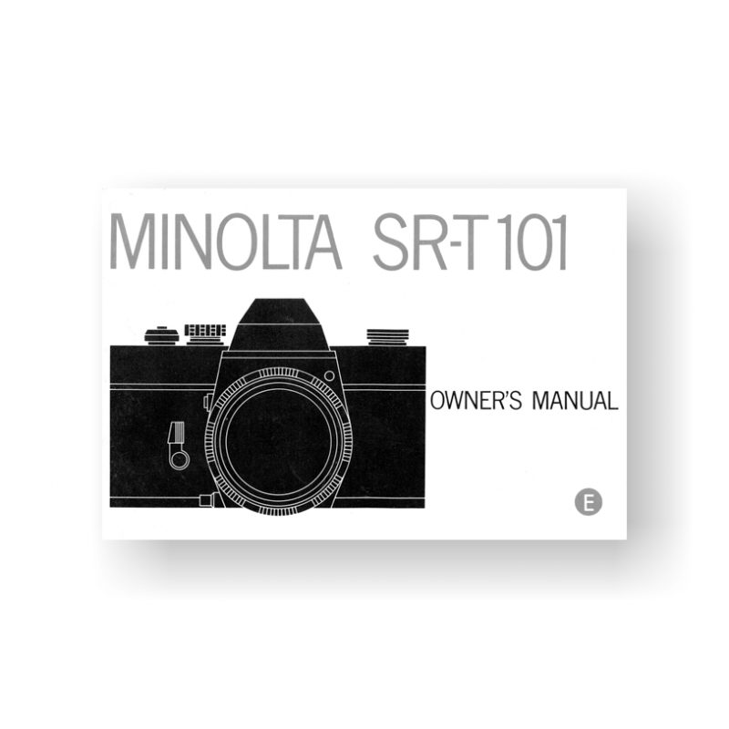 44-page PDF 7.93 MB download for the Minolta SRT-101 Owners Manual