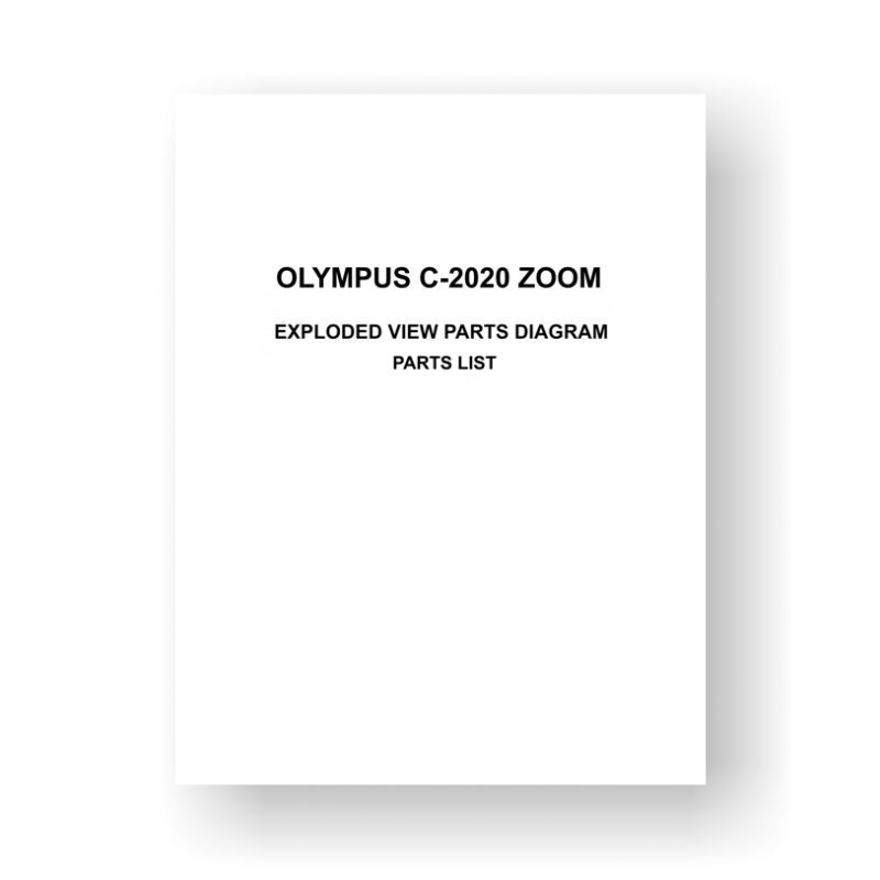 Olympus C-2020-Zoom Parts List Exploded Views