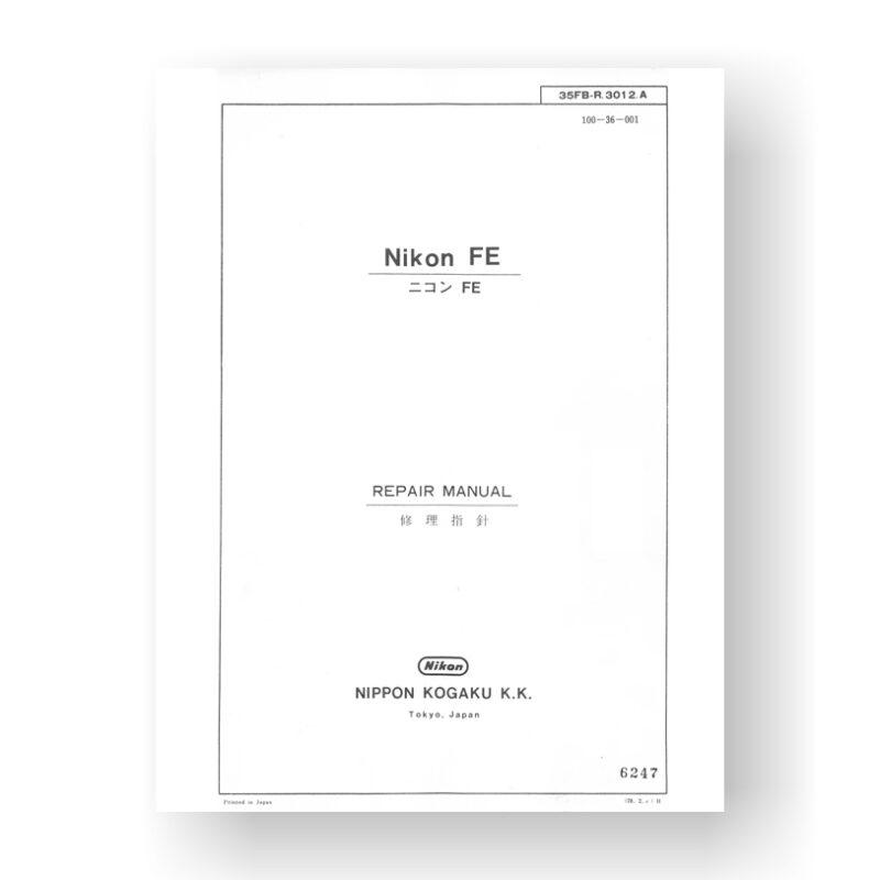 Nikon FE Repair Manual | Vintage Film Camera | SLR