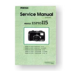 Pentax 27072 Service Manual Parts List | IQ-Zoom 115