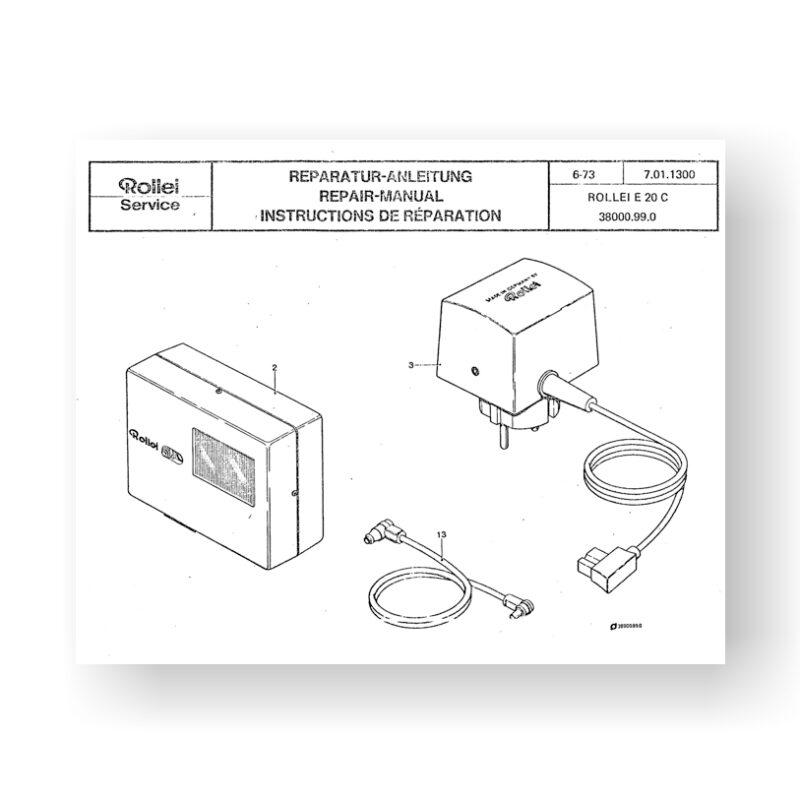 Rollei E20-C Repair Manual Parts List | Shoe Mount Flash Unit