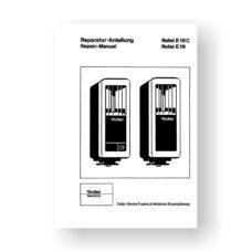 Rollei E19-E19C Repair Manual Parts List | Shoe Mount Flash