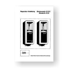Rollei E22-E22C Repair Manual Parts List