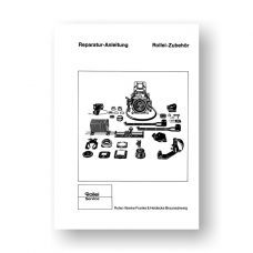 Rollei SL66 Accessories Repair Manual Parts List