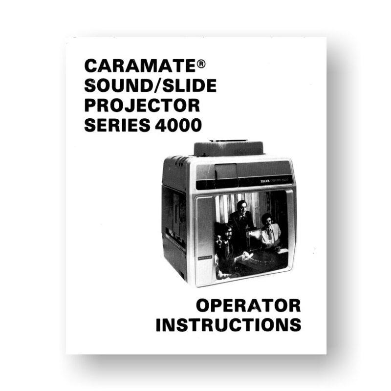 Kodak Caramate 4000 Owners Manual   Telex Slide Projectors