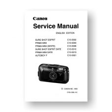 Canon C13-3302 Service Manual Parts Catalog | Sure Shot Esprit | Prima Mini | Autoboy F | Sure Shot Esprit Date | Prima Mini Date
