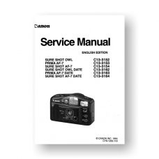 Canon Sure Shot Owl | Sure Shot AF-7 | Prima AF-7 Film Camera Service Manual Parts Catalog PDF Download