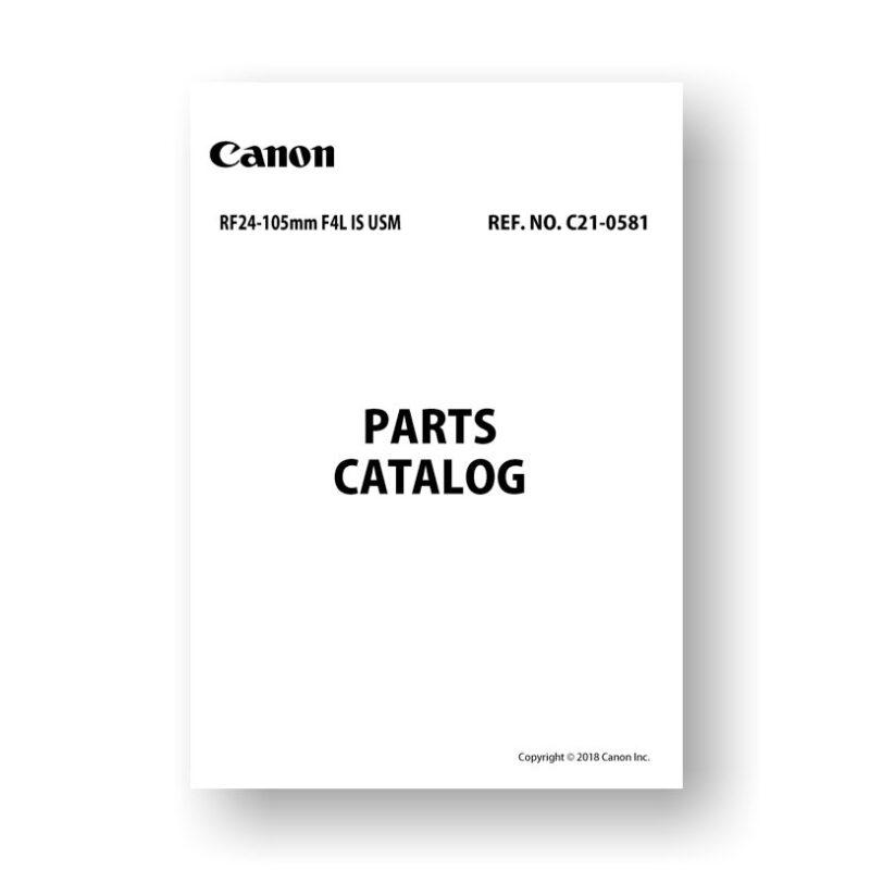 Canon C21-0581 Parts Catalog | RF 24-105 4.0L IS USM