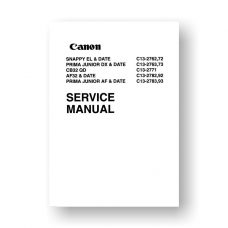 Canon C13-2762 Service Manual Parts Catalog | AF32 | CB32 | Prima Junior DX | Snappy EL