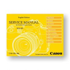 Canon EOS 20D Service Manual Parts List PDF Download