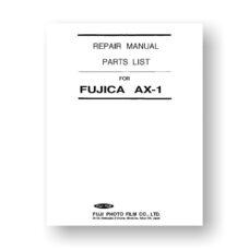 Fujica AX-1 Repair Manual