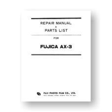 Fujica AX-3 Repair Manual Parts List