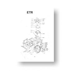 Bronica ETR Service Manual Parts List