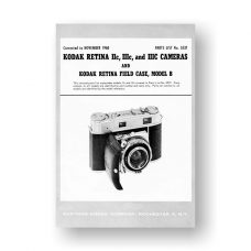 Kodak Retina-III Parts List | 35mm Rangefinder