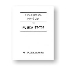 Fujica ST705 Repair Manual Parts List