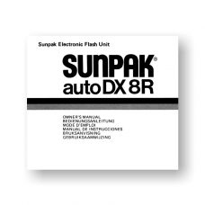 Sunpak Auto DX8R Flash Unit Owners Manual