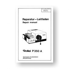 Rollei P350 A Repair Manual Parts List