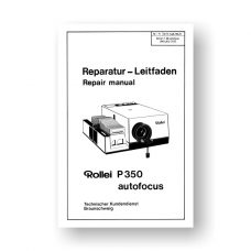 Rollei P350 AF Repair Manual Parts List PDF Download