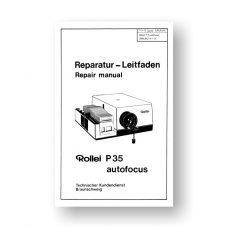 Rollei P35AF Repair Manual Parts List | 35mm Slide Projector
