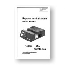 Rollei P360AF Repair Manual Parts List