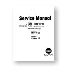 Minolta Maxxum 7000 Service-Manual