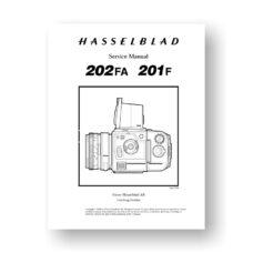 Hasselblad 201F-202FA Service Manual