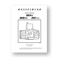 Hasselblad 203-205 Service Manual