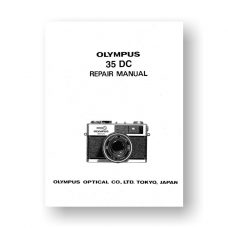 Olympus 35DC Repair Manual Parts List