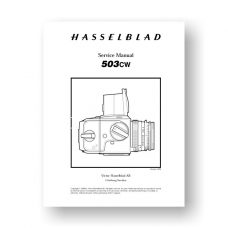 Hasselblad 503CW Service Manual Parts List