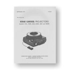 Kodak Old-Carousel2 Service Manual   760   760H   850   850H   860   860H