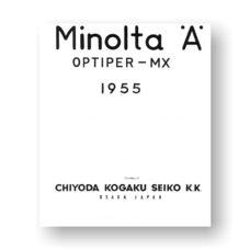 Minolta A Exploded View