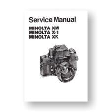 Minolta XK Service Manual Parts List