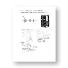 Minolta AF100-300 4.5-5.6 Service Manual