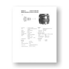 Minolta AF24-50 4.0 Service Manual Parts List