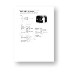 Minolta AF28-2.8 Service Manual Parts List | Rokkor AF Lens