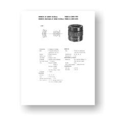 Minolta AF35-80 4-5.6 Service Manual