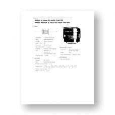 Minolta AF50-2.8 Macro Service Manual Parts List