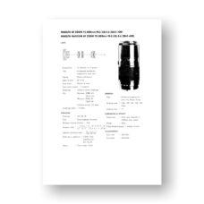 Minolta AF75-300 4.5-5.6 Service Manual