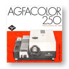 AGFACOLOR 250 Owners Manual | 35mm Slide Projector
