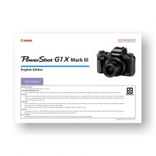 Canon PowerShot G1X MK III Parts-List