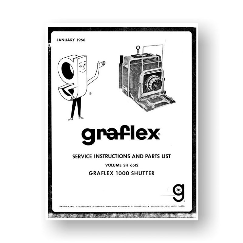 Graphic 1000 Shutter Service Manual Parts List