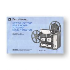 Bell & Howell AutoLoad 481 Owner's Manual