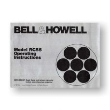 Bell & Howell RC55 Owner's Manual